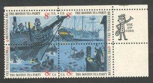 1480-83 Boston Tea Party Zip Block Mint/nh (Free Shipping)