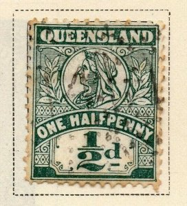 Queensland 1899 Early Issue Fine Used 1/2d. 326854