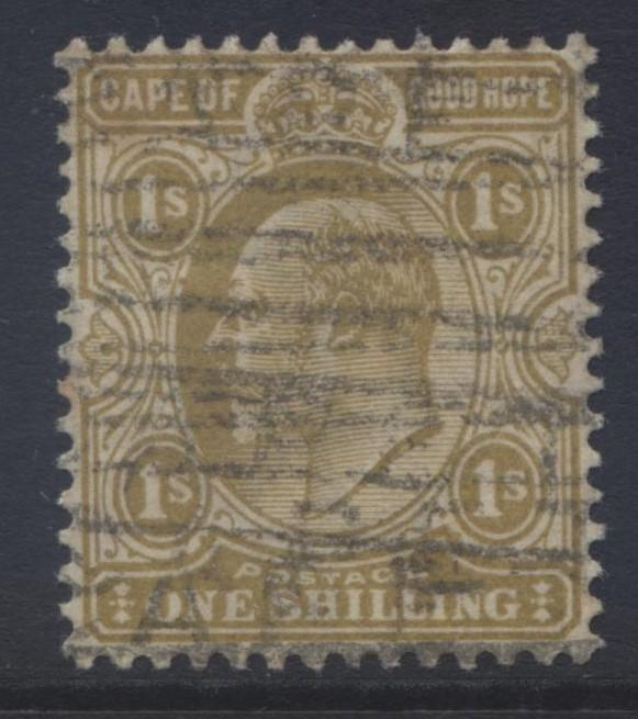 CAPE of GOOD HOPE - Scott 70 - KEVII -1903 - VFU - Single 1/- Stamp3