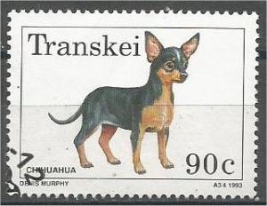 TRANSKEI, 1993, CTO 90c, Dogs, Chihuahua, Scott 285