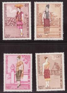 LAOS Scott 235-236,c101-102 , MNH** costume set 1973