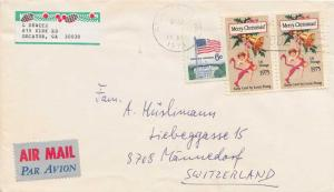 United States Post 1950 Commemorativ [10c] Early Christmas Card (2) with 6c F...