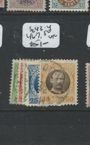 DANISH WEST INDIES  (P0806B) SC43-4, 46-7, 50  VFU