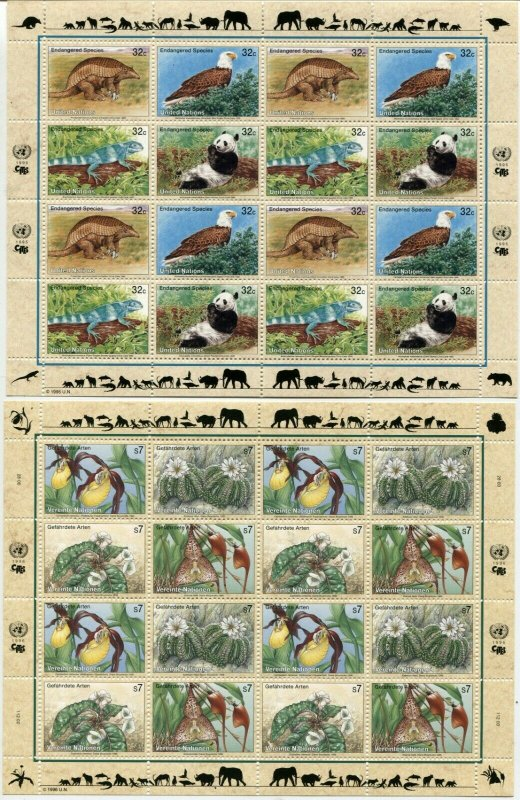 21 UN Endangered Species UNITED NATIONS Sheets Collection New York Geneva Vienna