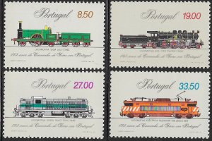 Portugal 1512-1515 MNH - 125 Years of Railways in Portugal