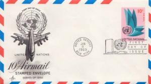 United Nations, First Day Cover, Postal Stationery, Aviation