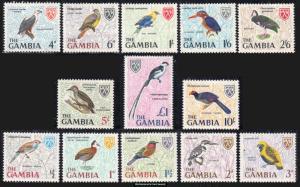 Gambia Scott 215-227 Mint never hinged.