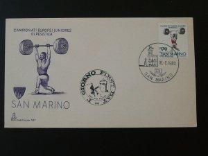 weight lifting world cup 1980 FDC San Marino 81215