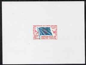 Upper Volta 1962 Flag 30f de luxe sheet in issued colours...