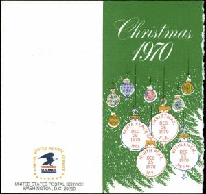 US FDC #1414-#1418 USPS Christmas Card Washington, DC