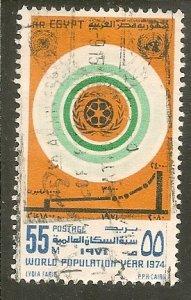 Egypt   Scott 951   World Population Year   Used
