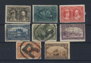 8x 1908 Quebec Mint stamps #96-1/2c To #103-20c Guide Value = $515.00
