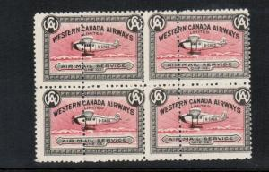 Canada #CL40e Never Hinged Mint Double Perfed Block