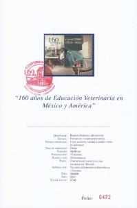 RG)2013 MEXICO, HORSE,160 YEARS OF VETERINARY EDUCATION IN M