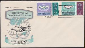NEW HEBRIDES 1965 ICY commem FDC............................................3430