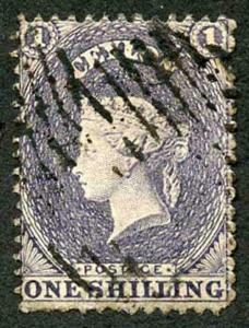 Ceylon SG43 1/- Slate-purple no wmk perf 13 Fine used