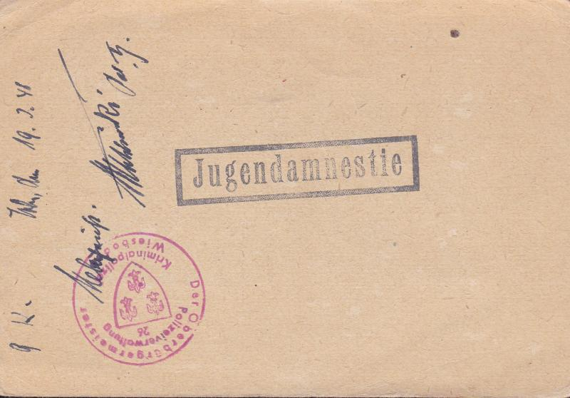 Germany Post War Postal History Lot  3 Items Missing Persons