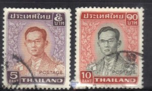 THAILAND  SC# 613+615 **USED** 5&10b  1972-77   SEE SCAN