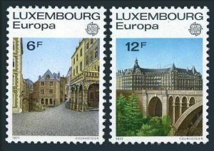 Luxembourg 597-598,MNH.Michel 945-946. EUROPE CEPT-1977.Old Luxembourg.Bridge.