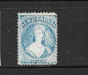 NEW ZEALAND 1862-64  2d  PALE BLUE  FFQ  p13  MNG  CP A2E1  SG 73 CHALON