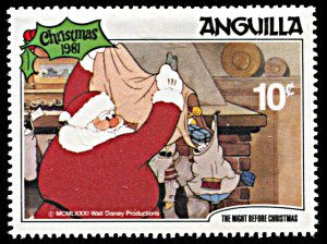 Anguilla 458, MNH, Disney The Night Before Christmas 1981