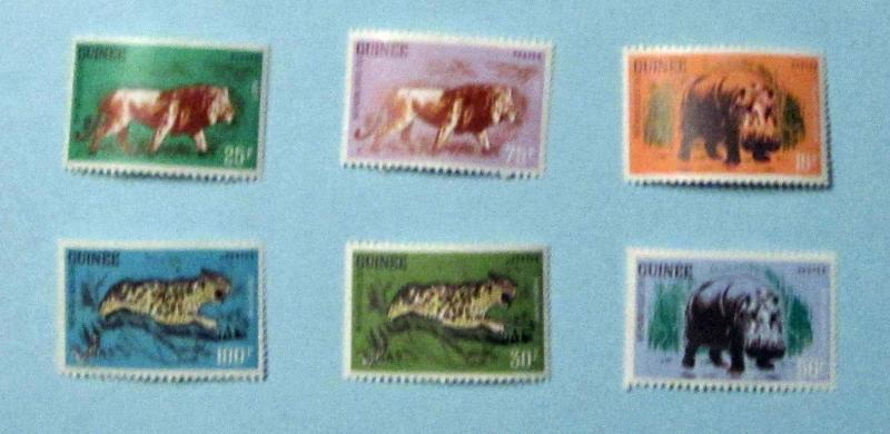 Guinea - 248-53, MNH Set. Animals. SCV - $7.80