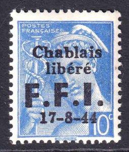 FRANCE 356 CHABLAIS LIBERATION OVERPRINT OG NH U/M F/VF BEAUTIFUL GUM