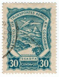 (I.B) Colombia Postal: SCADTA Airmail 30c