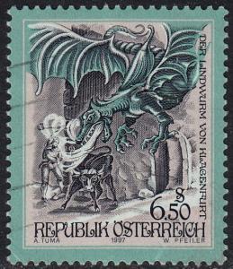 Austria - 1997 - Scott #1731 - used - Legend Dragon