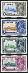Gibraltar SG114/7 1935 Silver Jubilee set M/M (hinge remainders)