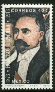 MEXICO 1052, 40¢ Centennial of the birth of Pres Madero. MINT, NH. VF.