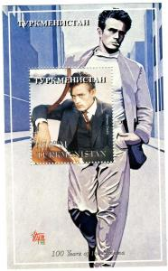 Turkmenistan 1998 JAMES DEAN American Actor s/s Perforated Mint (NH)