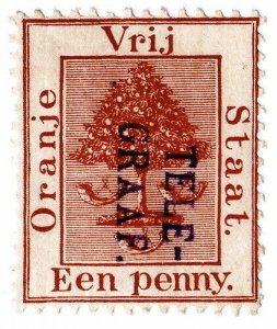 (I.B) Orange Free State Telegraphs : 1d Lake-Brown (1885)