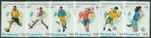 C0427 - Western SAHARA OCCIDENTAL - 1996, set of 6: France 98, Soccer, World cup