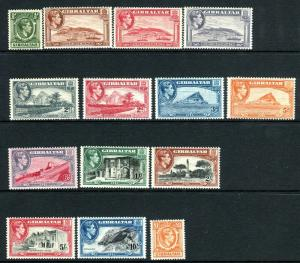 GIBRALTAR-1938-51  An unmounted mint set to £1 Sg 121-131
