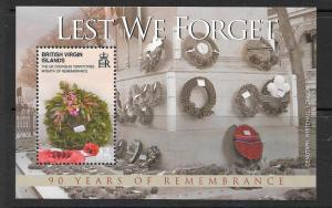 BRITISH VIRGIN ISLANDS SGMS1227 2008 END OF WORLD WAR I MNH