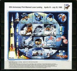 PALAU 1994 SPACE/MOON LANDING SHEET OF 20 STAMPS MNH
