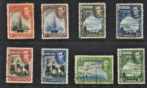 STAMP STATION PERTH  Bermuda #118-122 KGVI Short Set- Used - Unchecked
