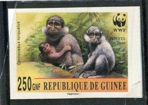 Guinea 2000 WWF MONKEY MANGABEY 1 value Imperforated Mint (NH)
