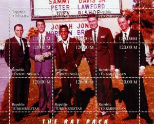 Turkmenistan 1999 THE RAT PACK s/s Perforated Mint (NH)