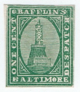 (I.B) US Local Post : Grafflin's Despatch 1c (Baltimore)
