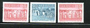 Sweden Sc 556-8 1960Target Shooting stamp set mint NH