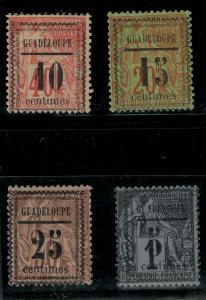 Guadeloupe 1889 SC 6-9 Mint SCV $140.00 Set
