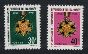 Dahomey Orders Tenth Anniversary of Independence 2v 1970 MNH SG#412-413