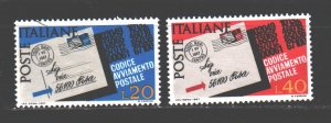 Italy. 1967. 1237-38. Mail, codes. USED.
