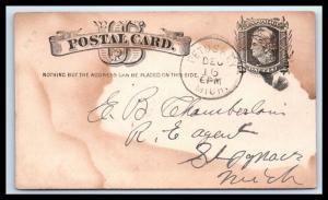 GOLDPATH: US POSTAL CARD 1884, PETOSKEY, MICH.   _CV33_P18