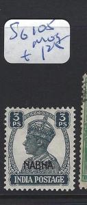 INDIA  NABHA    (P2807B)   KGVI 3P   SG 105    MOG