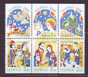 J23119 JLstamps 1988 sweden set mnh #1713-8 christmas