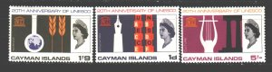 Cayman Islands. 1966. 187-9. 20 years of UNESCO. MNH.