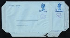 Isle of Man Aerogramme Lot of 2 Uprated; Unused